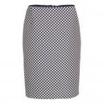 Blå dots KNAP design pencil skirt