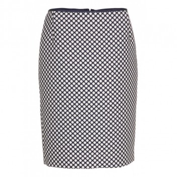 Blå dots KNAP design pencil skirt