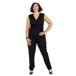 Sort KNAP design jumpsuit